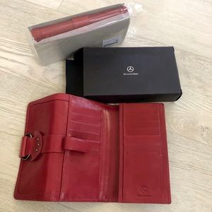 NWT Mercedes-Benz Logo Leather Large Wallet Clutch